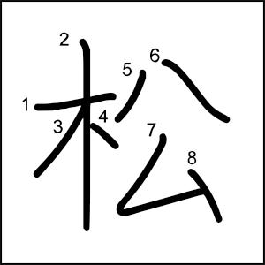 Kanji_al_dia_松