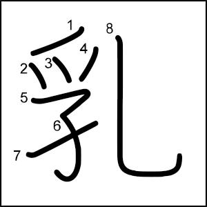 Kanji_al_dia_乳